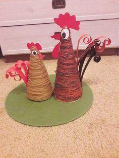 Decor Crafts, Diy And Crafts, Crafts For Kids, Preschool Crafts, Easter Crafts, Paper Basket Weaving, Chicken Crafts, Diy Ostern, Paper Crafts Origami