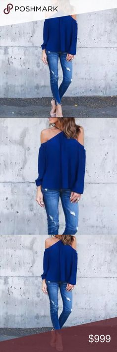 Halter Top Women Clothes Halter Off shoulder Long Sleeve Sexy Top Blouse! Sexy and Sheik! Tops Blouses
