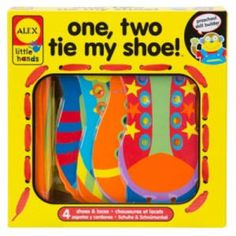 One, two, tie up my shoe! It's easy and fun to learn to tie laces and this activity helps children develop fine motor skills, too. Includes four large, chunky shoe cards with lacing holes. Use the 5 colorful laces to tie up these big shoes . Learning Games For Kids, Early Learning, Teaching Kids, Learn To Tie Shoes, Foams Shoes, Alex Toys, Chunky Shoes, Shoes Too Big, Lanyards