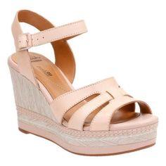 36d457ba78f9 Women s Clarks Zia Noble Wedge Ankle Strap Sandal Cow Full Grain Comfy Shoes