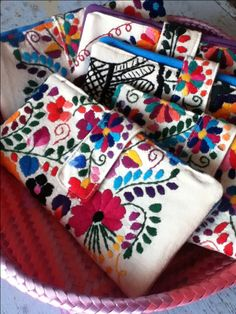 Chantel Mexican Embroidered Wallet by EricaMaree on Etsy