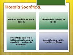 Ideas principales de la Filosofía Socrática. Destaca Sócrates en Atenas.