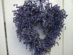 Purple Wreath, Lavender Wreath, Hydrangea Wreath, Twig Wreath, Heart Wreath, Floral Supplies, Shabby Chic Homes, Dried Flowers, How To Dry Basil