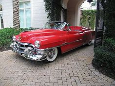 1953 Cadillac Eldorado Convertible - Hollywood Wheels Auctions & Shows American Classic Cars, Old Classic Cars, Classic Style, Cadillac Eldorado, Austin Martin, Vintage Cars, Antique Cars, Convertible, 1959 Cadillac