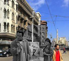 #Cairothenandnow مشروع الأماكن اللي اتصور فيها كلاسيكيات السينما المصرية وشكل الأماكن ديه النهاردة Urban City, See Photo, Times Square, Louvre, Street View, Building, Travel, Viajes, Buildings