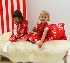 Dresses for Christmas!   Moose design by Eero Aarnio