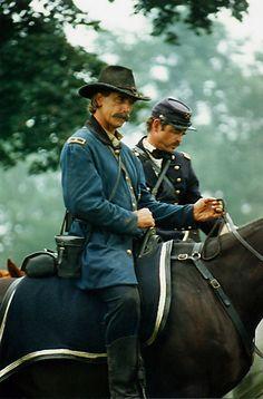 Jim Hatzell: On the Movie Set—  Worked with Sam Elliott (at left) in 1993's Gettysburg.
