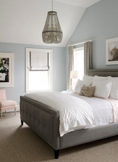 Beautiful blue gray bedroom