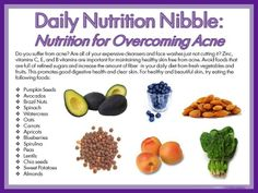 Daily Nutritional Nibble for acne #skincare #health #acne