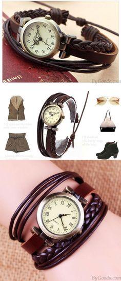 Gentiana Rope Weave Retro Bracelet Watch for big sale ! #weave #retro #bracelet #watch #rope