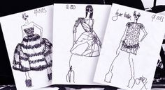 Giles Deacon Sketch Giles Deacon, Dfs, Fashion Sketchbook, Fashion Illustrations, Sketchbooks, Sketches, Fashion Design, Drawings, Sketch Books