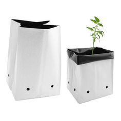 The Viagrow 20 Gal. Nursery Grow Bags offer an inexpensive alternative to the more traditional ceramic and plastic nursery pots. These thick plastic bags are reversible from black to white for a variety Homemade Hydroponics, Commercial Greenhouse, Kitchen Trash Cans, Portable Greenhouse, Grow Bags, Thing 1, Drip Irrigation, Hydroponics System, Ceramic Pots