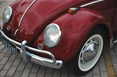 ♕ love this ~ I learned to drive in a '65 red convertible VW Beetle