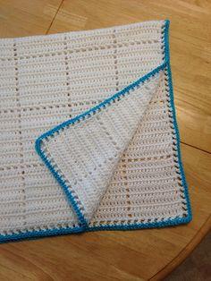 White Squares Crochet Baby Blanket
