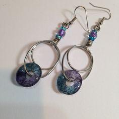 Handmade Earrings / Wirework Dangle Earrings / by cyvonneh on Etsy