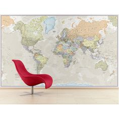 Classic world map wallpaper stylish map mural muralswallpaper classic world map wallpaper stylish map mural muralswallpaper pinterest bedrooms basements and interiors gumiabroncs Gallery