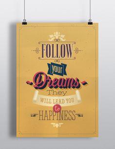 Poster decorativo com frase motivacional. Impressão digital high quality em papel especial de alta gramatura.