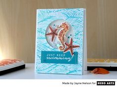 Card: Making Waves by Jayne Nelson for Hero Arts