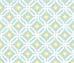 Aberdeen in Mint and Daffodil fabric by sparrowsong on Spoonflower - custom fabric