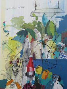 "Saatchi Art Artist Golnaz Afraz; Painting, ""La joie du silence"" #art"