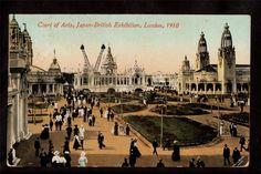1910 Court of Arts Japan British Exhibition London UK Exposition Postcard