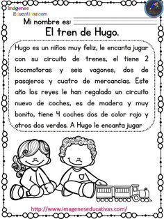 Lecturas comprensivas para Primaria y primer grado. Las aventuras de Noa y Hugo - Imagenes Educativas Comprehensive readings for Primary and first grade. The adventures of Noa and Hugo Reading compreh Daily 5 Reading, What Is Reading, Learning Spanish For Kids, Spanish Teaching Resources, Spanish Activities, Spanish Lesson Plans, Spanish Lessons, Learn Spanish, Spanish Games