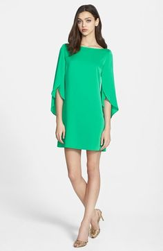 Milly Butterfly Sleeve Silk Crepe Dress available at #Nordstrom