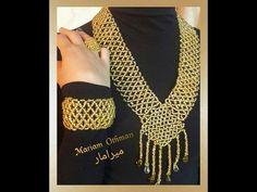 570abbb7ad433 طريقة عمل طقم اكسسوار ميرامار   مريم عثمان