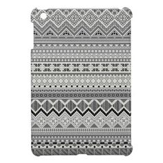 Cute gray aztec patterns design Savvy iPad mini case - available - $39.95 ===> get it here http://www.zazzle.com/cute_gray_aztec_patterns_design_ipad_mini_cover-256772131635068234?rf=238492824372051773&tc=pinterest