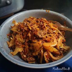 Caramelized cabbage with spicy ground beef! Low carb, LCHF, paleo and Caramelized cabbage with spicy ground beef! Low carb, LCHF, paleo and Recipe here: MyCopenhagenKitch… Danish Food, Ground Beef, Ground Turkey, Food Inspiration, Food Print, Spicy, Cabbage, Low Carb, Food And Drink