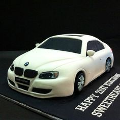 BMW custom car theme cake Happy Birthday Love, Birthday Themes For Boys, 60th Birthday, Unique Cakes, Creative Cakes, Ambulance Cake, Fondant Cakes, Cupcake Cakes, Bike Cakes