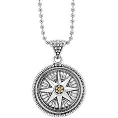 Women's Lagos Signature Caviar Compass Pendant Necklace ($595) ❤ liked on Polyvore featuring jewelry, necklaces, silver, layered beaded necklace, locket pendant necklace, pendant necklaces, silver ball chain necklace and layered pendant necklace