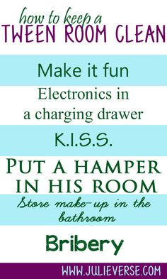 Help your tween keep his room clean with these tips for tween organization Lol bribery Deep Cleaning Tips, Cleaning Hacks, Clean Bedroom, Bedroom Cleaning, Someday Quotes, Room Store, Kids Corner, Getting Organized, Homemaking