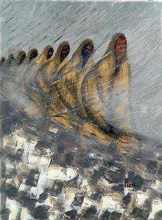"Saatchi Online Artist Paul Costin; Painting, ""Winter"" #art September 2012, 40×30 cm, oil on canvas, palette knife technique"