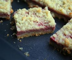 Strawberry Rhubarb Crumb Bars (Low Carb and Gluten-Free) PLUS RECIPES FROM THE SECRET RECIPE CLUB
