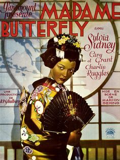 "Sylvia Sidney (Cho-Cho San) ""Madame Butterfly"" 1932. Cary Grant (LT. B.F. Pinkerton), Charles Ruggles (LT. Barton)"