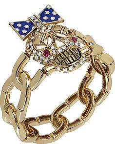 Betsey Johnson skull bracelet