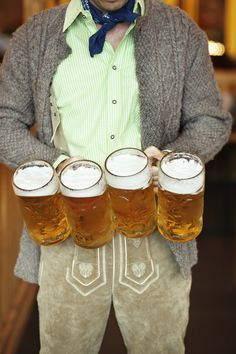Whether you can make it to Munich or not, Oktoberfest, the long festival that celebrates beer, is worth raising a stein to. Here are a few places where you can don the lederhosen, from Munich to Morovis. Austrian Recipes, Festivals Around The World, Learn German, Beer Festival, Lederhosen, Bavaria, Salzburg, Alps, Craft Beer
