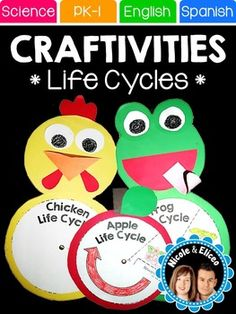 I love incorporating meaningful crafts in the classroom to support learning in an artistic way. These are just a few of the craftivities that I like to use during our science block when we're learning about plan life cycles. PRODUCT LANGUAGE(S)-English & SpanishINCLUDED RESOURCESSimple, step-by-step instructionsLife cycle wheel pictures, labels & templates for the...-apple life cycle-flower life cycle-pumpkin life cycle-watermelon life cycle-chicken life cycle-frog life cycle-butterfly l...