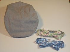 Ready to ship Flat cap and bow tie set age 4 to 9 by kbpdesigns