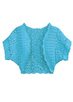 Baby shrug - but could be mod'ed to adult size with change in hook and yarn weight and possibly increased number of rows and/or motifs.