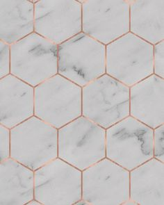 Marble Hexagon Wallpaper