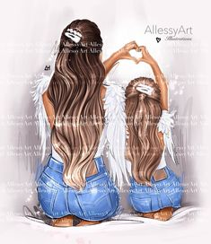 Mother And Daughter Drawing, Daughter Love, Daughters, I Love You Mom, Mommy And Me, Art Girl, Girly, Clip Art, Photoshoot