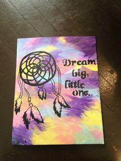 Dream Big Little One  Dreamcatcher sorority canvas