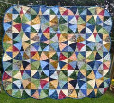 Wheel of Mystery quilt from a Flynn Quilt Frame Company kit