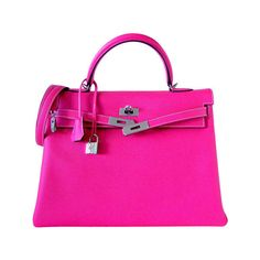 HERMES - HERMES KELLY 35 Supple Bag Candy ROSE TYRIEN 2tone ❤ liked on Polyvore