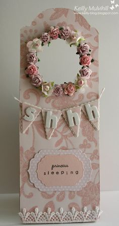 #shabbychic #doorhanger...Not a card or tag but not sure where else to put this