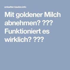 Mit goldener Milch abnehmen? ♥♥♥ Funktioniert es wirklich? ♥♥♥