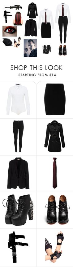"""""""Quinn assassin wattpad"""" by alannahzoe on Polyvore featuring Hallhuber, T By Alexander Wang, Maesta, title of work, Givenchy, RIFLE and Leg Avenue"""