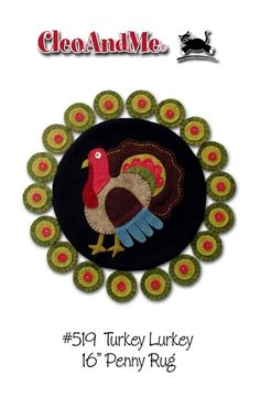 Turkey Lurkey Penny Rug Pattern by cleoandmepatterns on Etsy, $7.50